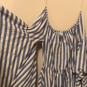 Dresses - Blue and white dress